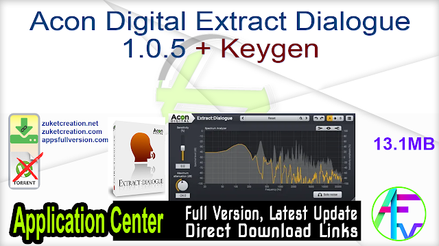 Acon Digital Extract Dialogue 1.0.5 + Keygen
