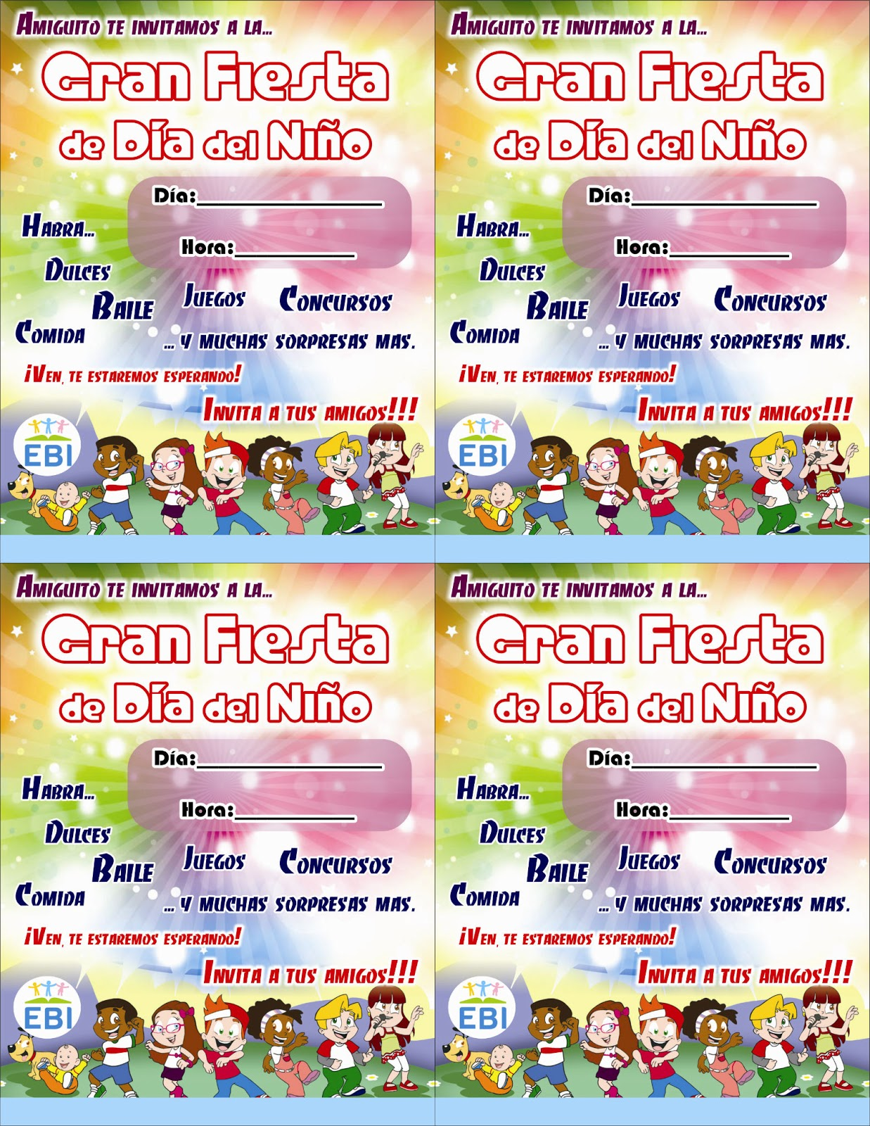 Invitación Dia Niño Imagui