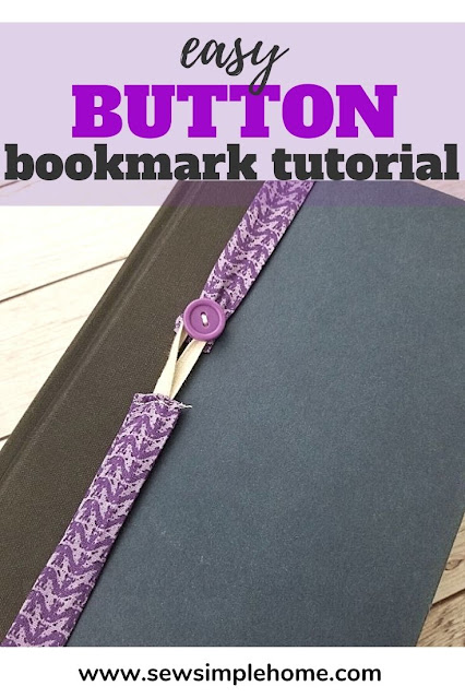 Sew your own elastic bookmark with this quick fabric bookmark tutorial.