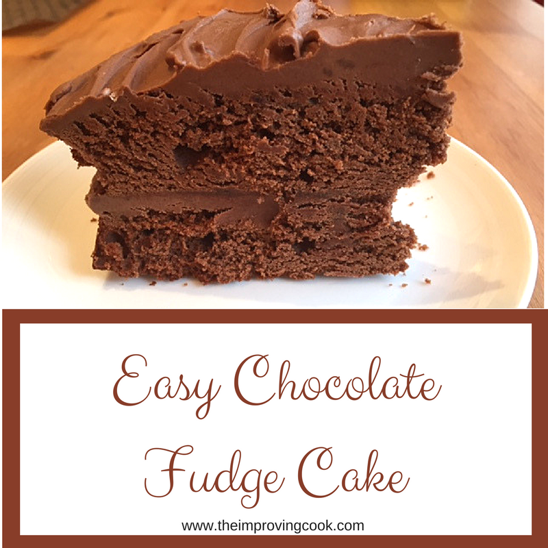 The improving cook easy chocolate fudge cake for Simple chocolate fudge cake