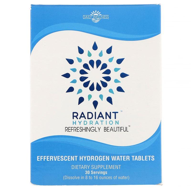 Daily Wellness Company, Radiant, добавка для приготовления водородной воды, 30 шипучих таблеток