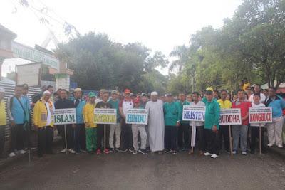 Kemenag Tanjungbalai Gelar Jalan Santai Kerukunan Umat Beragama