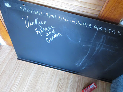 All done with the chalkboard:  Vickie's Kitchen and Garden