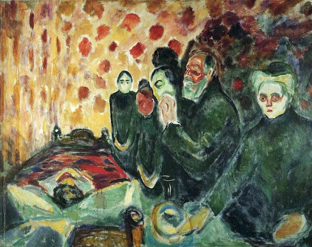 Эдвард Мунк - У смертного одра (Лихорадка). 1915