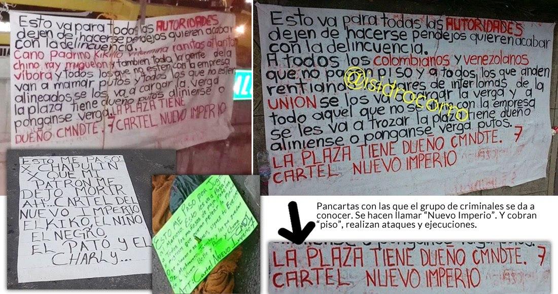 """Sicarios dejan al Cártel de Sinaloa y forman su Cártel en Edomex, de nombre rimbombante: """"Nuevo Imperio"""""""