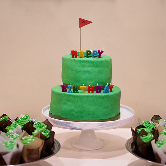 Chocolate Kahlua Golf Birthday Cake
