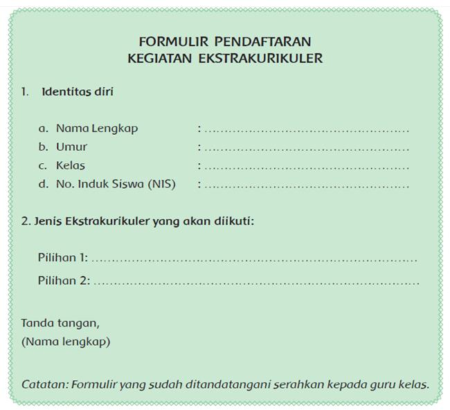 Formulir B