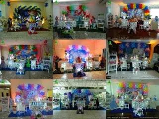 Decoração para festa de aniversário infantil feminino