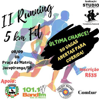 II Running 5 km Fit abre mais 50 vagas