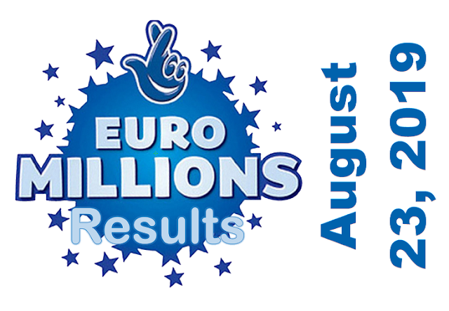 EuroMillions Results for Friday, August 23, 2019