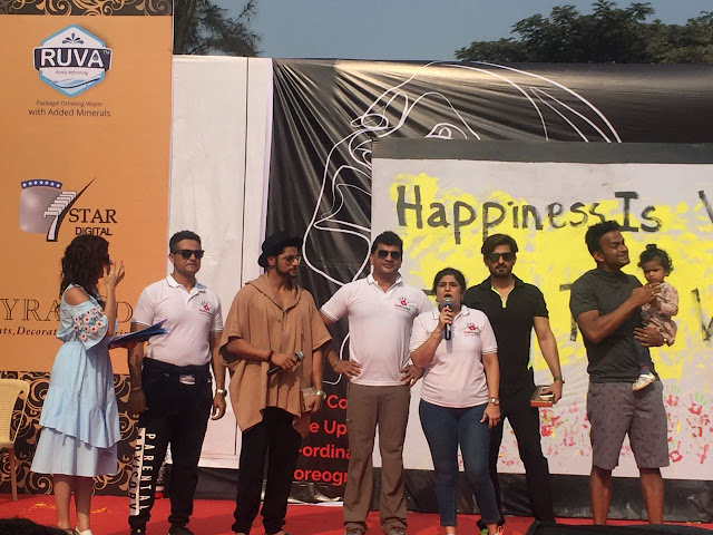 Surjeet Singh Dadiala,  Karanvir Bohra, Jeetendra Thackeray, Shalini Thackeray & Siddharth Kannan  at Be Happy Event Lokhandwala Back Road