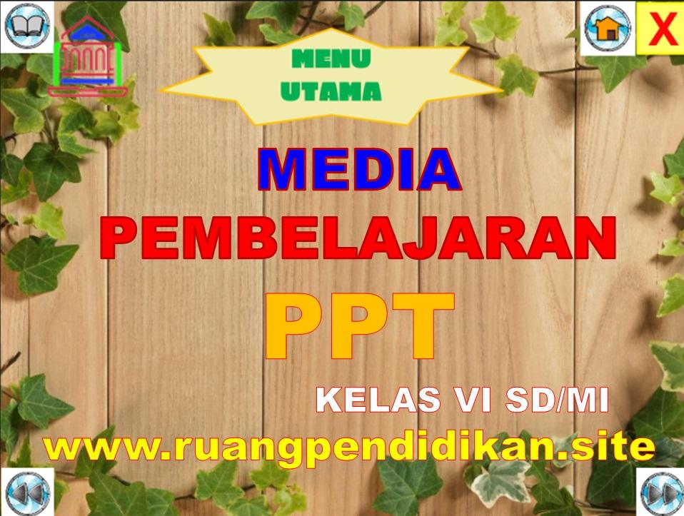 Media Ajar PowerPoint (PPT) Kelas 6 SD/MI