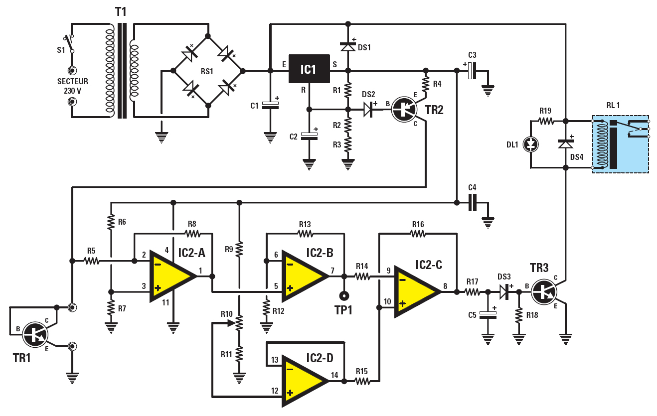 thermostat control del Schaltplan