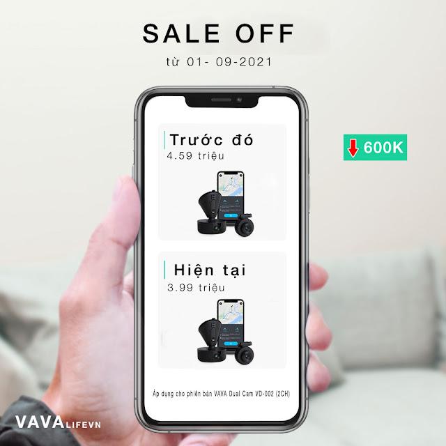VAVA Dual Dash Cam ưu đãi tháng 9
