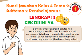 Kunci Jawaban Kelas 4 Tema 9 Subtema 2 Pembelajaran 1 www.simplenews.me