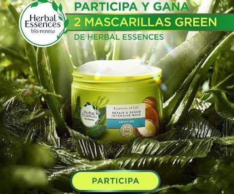 sorteo packs mascarillas Herbal Essences
