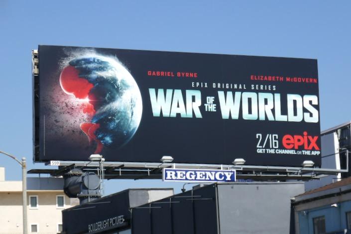 War of the Worlds series premiere billboard