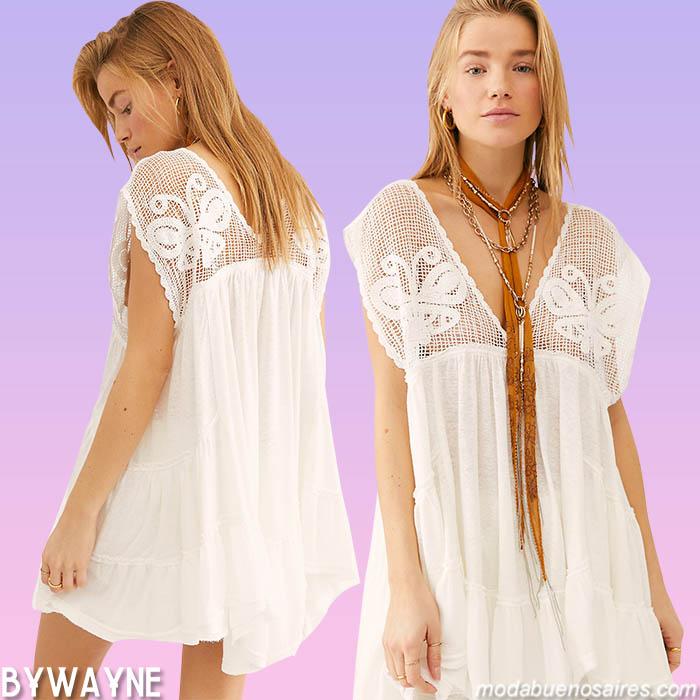 Moda boho primavera verano 2021 vestidos
