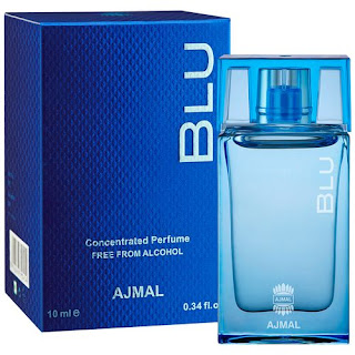 ajmal blu concentrated citrus perfume free from alcohol for men