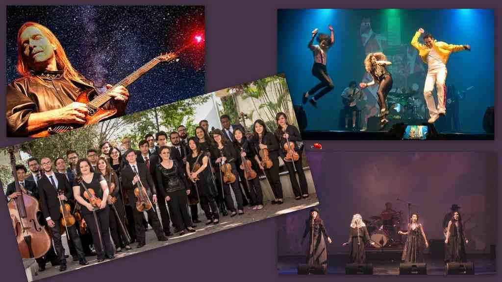 A partir do palco de um teatro, concertos sinfônicos, espetáculos infantis, teatro adulto e grandes shows de rock, ao vivo e online, gratuitamente
