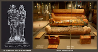 King Menkaura and queen. Ancient Egypt. Museum of Fine Arts, Boston. by Travis Simpkins