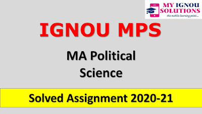 IGNOU MPS Solved Assignment 2020-21, MPS Solved Assignment 2020-21