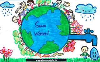 water conservation drawing easy
