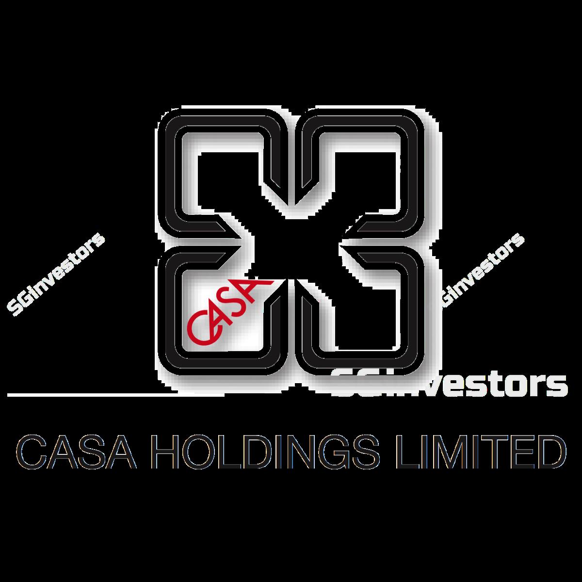 CASA HOLDINGS LIMITED (SGX:C04) @ SGinvestors.io