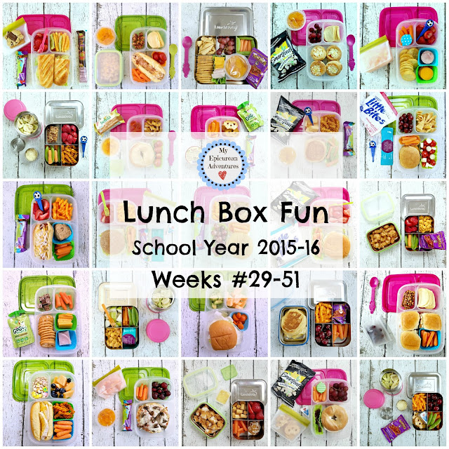 Lunch Box Fun 2015-16: Week #29-51. Lunch box ideas, school lunch ideas, lunches