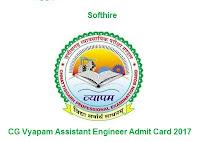 CG Vyapam Assistant Engineer Admit Card