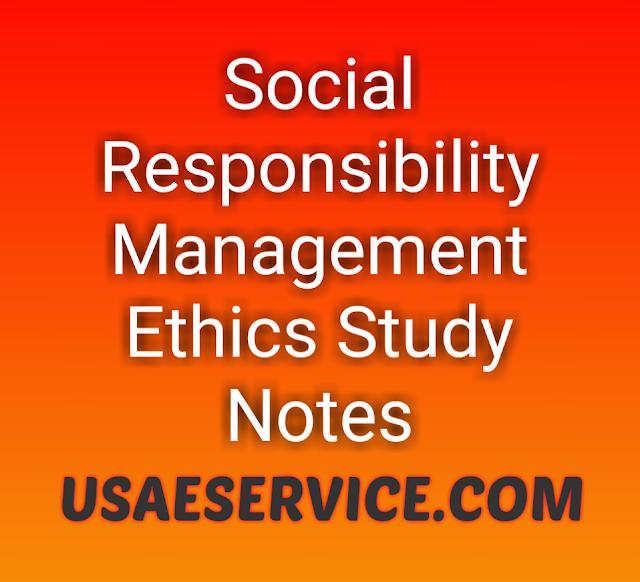 Social Responsibility Management Ethics Study