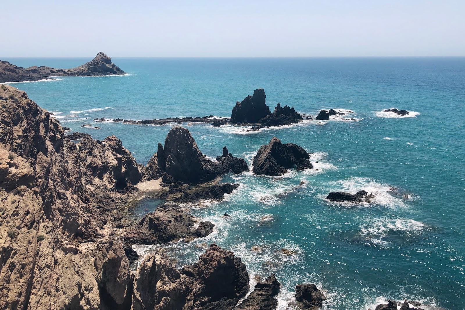 Where the sea meets the jagged coastline