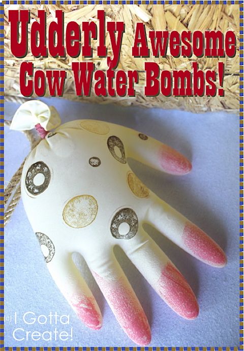 These are Udderly Awesome for #water party fights! Make Cow Water Bombs! | tutorial at I Gotta Create!