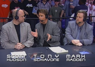 WCW Slamboree 2000 - Scott Hudson, Tony Schiavone, and Mark Madden were the announcers for the event