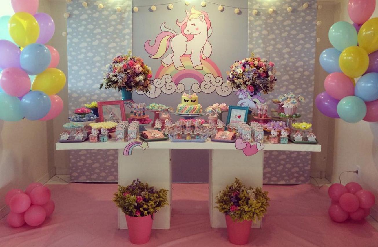 101 fiestas ideas para decorar tu fiesta de unicornio - Ideas decoracion fiesta ...