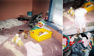 Shocking reality of life with a drug addict mother: Idaho girl, 17, shares horrifying photos of her childhood home with a baby lying in filth