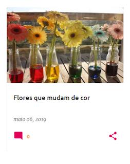 6 jarras com flores com as cores do arco-íris