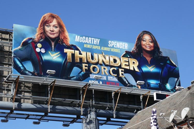 Thunder Force movie billboard