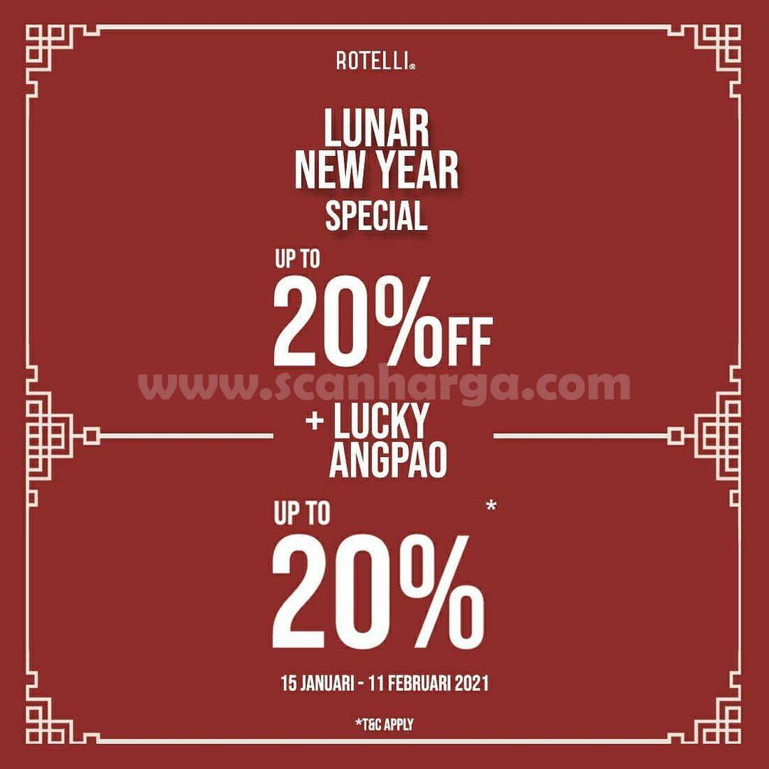 ROTELLI Promo Lunar New Year Special Up to 20% Off + Lucky Angpao