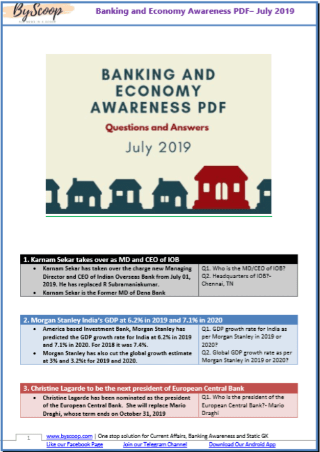 Banking-and-Economy-Awareness-July-2019-PDF-Book