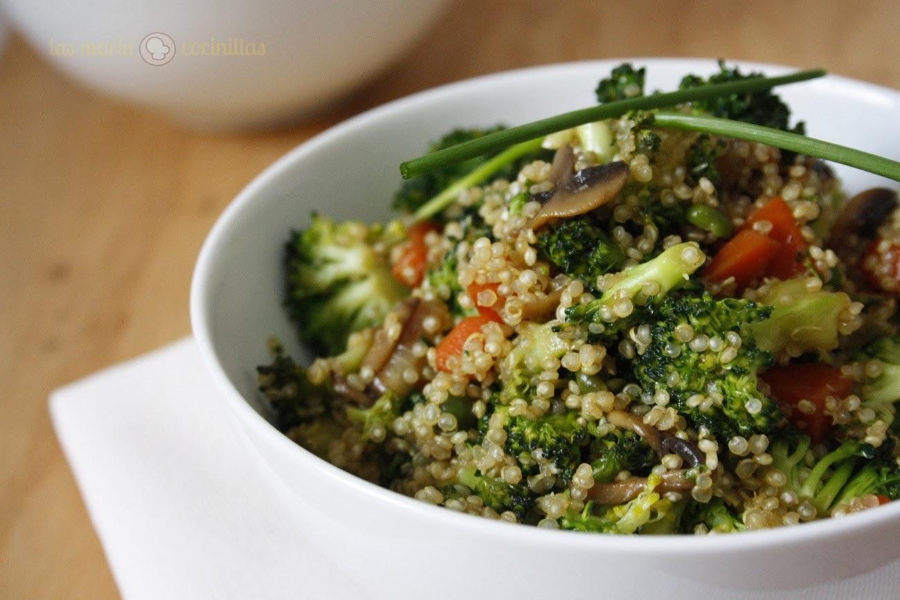 Ensalada templada de quinoa y verduras las maria cocinillas for Cocinar 1 taza de quinoa