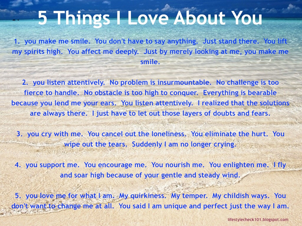 A List Of Quotes From 10 Things I Hate About You That: Lifestyle Check 101: 5 Things I Love About You