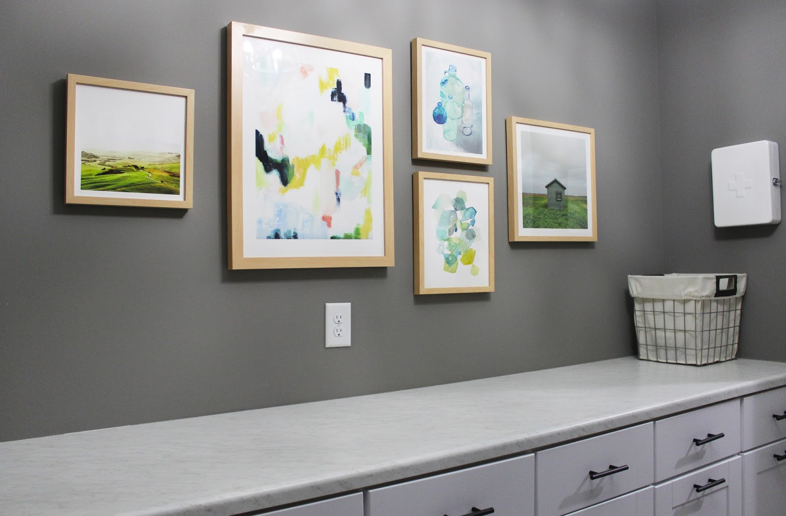 Laundry Room Picture Frames Room Tour Laundry Room  Minted Art