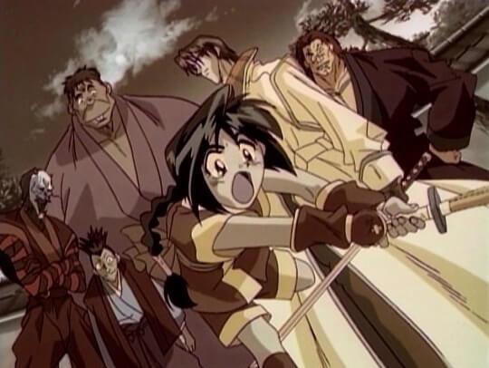 misao and the oniwabanshu gang led by aoshi shinomori