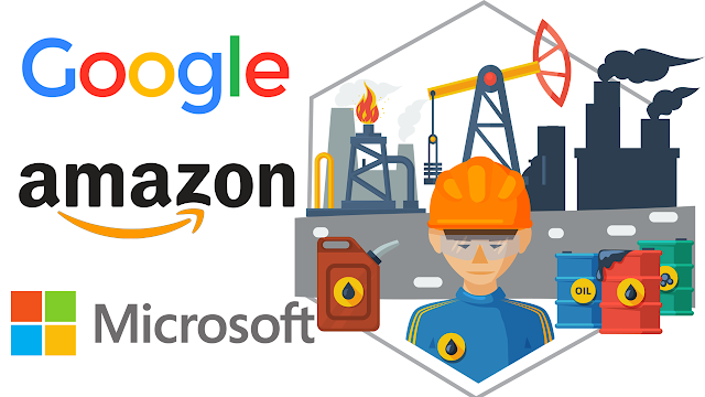 Google, Amazon, and Microsoft's Participation in the Oil Business
