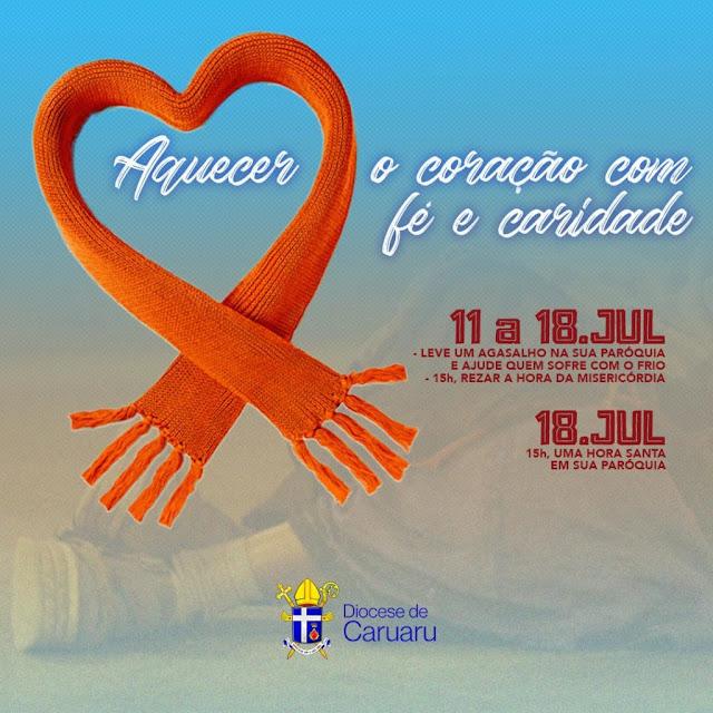 Diocese de Caruaru promove campanha do agasalho e jornada de oração pelo fim da pandemia