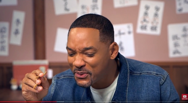 Will Smith memakan Wasabi