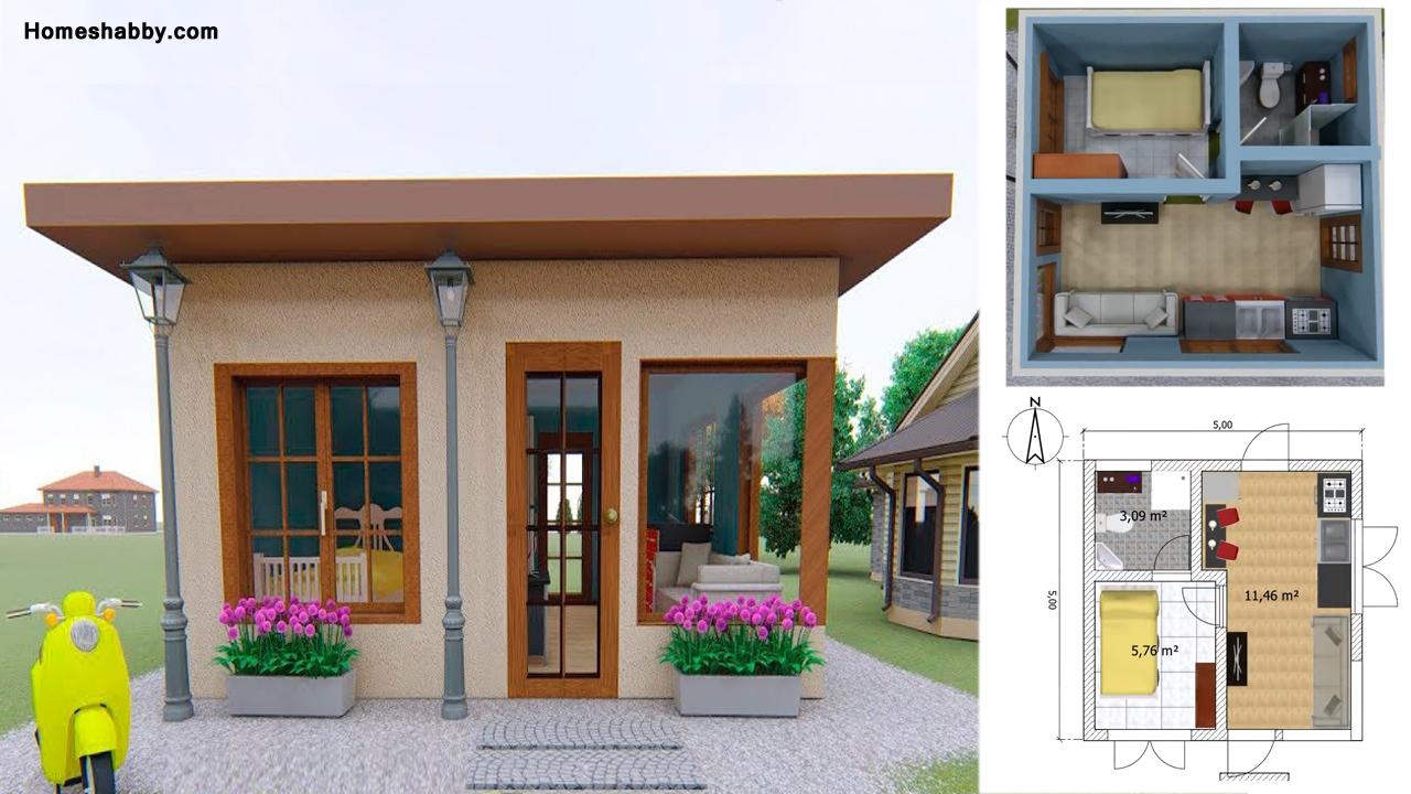 Desain Dan Denah Rumah Minimalis Sederhana Ukuran 5 X 5 Terbaru Cocok Untuk Pasangan Baru Homeshabby Com Design Home Plans Home Decorating And Interior Design