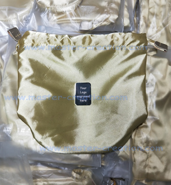 golden drawstring bag