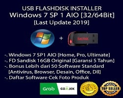 USB Flashdisk Installer Windows 7 [32/64Bit] + Paket Software